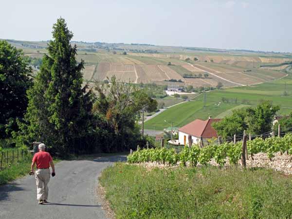 Walking in France: Descending from Sancerre