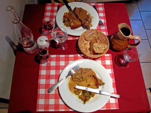 Walking in France: Our main courses at the P'tit Berry