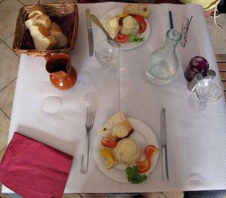 Walking in France: Our blanquettes de veau at the Faisan Doré