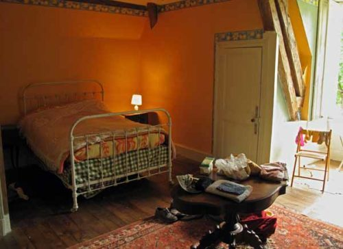 Walking in France: Our bedroom...