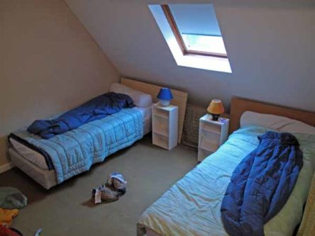 Walking in France: Our dormitory beds