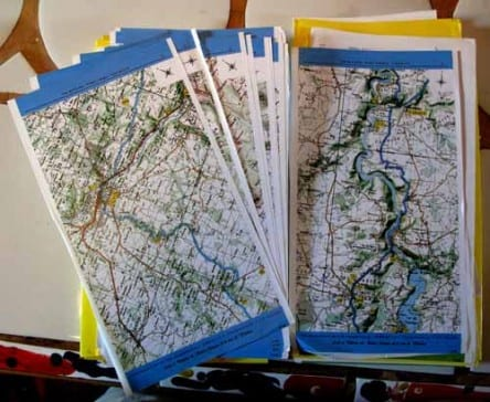 Walking in France: Arranging our route for the next few days using the pilgrim maps