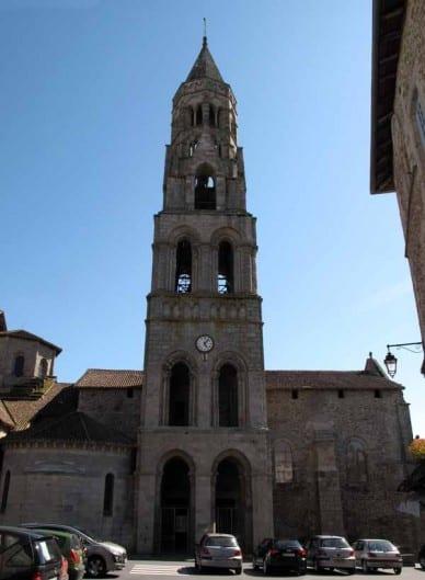 Walking in France: Tower of the church in Saint-Leonard-de-Noblat