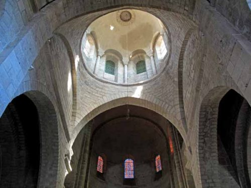 Walking in France: Looking up into the tower