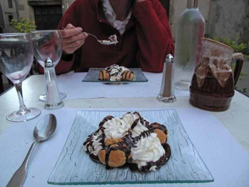 Walking in France: And profiterolles to finish