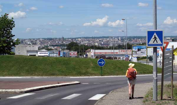 Walking in France: The dauting prospect (for a walker) of entering Limoges