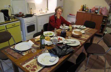 Walking in France: Amongst the debris of dinner