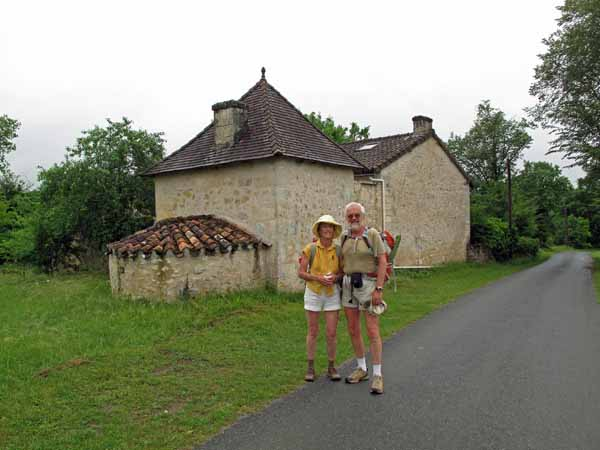Walking in France: A rare photo of us together - taken by Kees