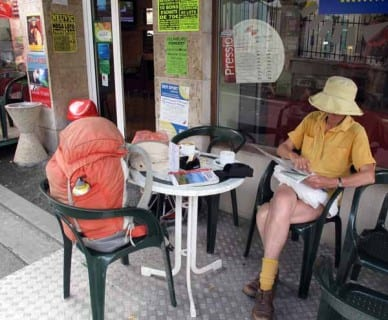 Walking in France: A coffee on arrival at Saint Astier
