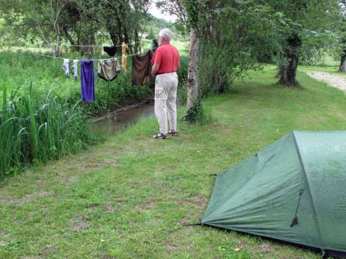 Walking in France: Villamblard camping ground
