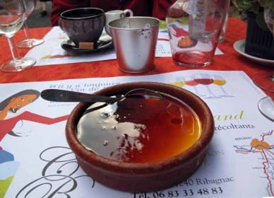 Walking in France: Keith's enormous crème caramel