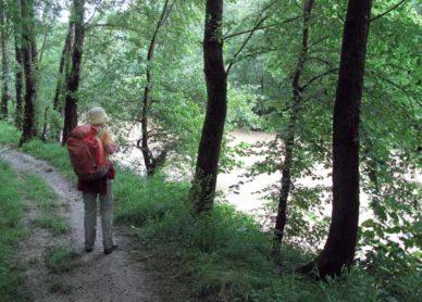 Walking in France: Approaching Lavardac beside the Baïse