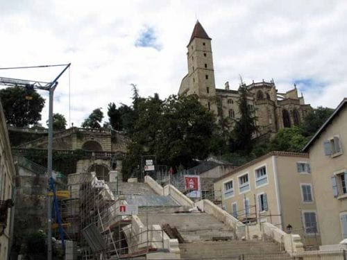 Walking in France: And now the grand staircase is also being restored