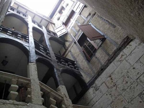 Walking in France: Looking up the stairwell of Henri's house
