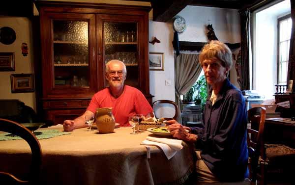 Walking in France: Dinner in the formal palour