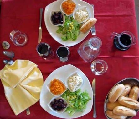Walking in France: Crudités to start dinner