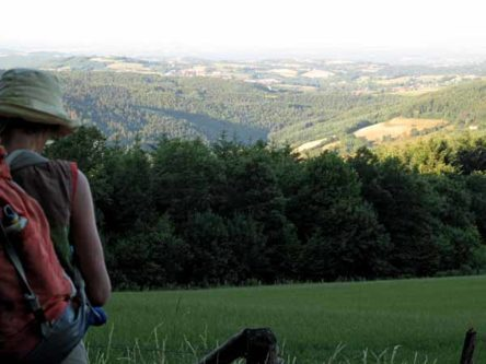 Walking in France: A beautiful view from just below the Tour Matagrin