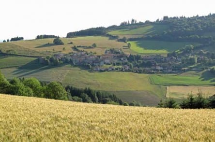 Walking in France: Looking down on Affoux