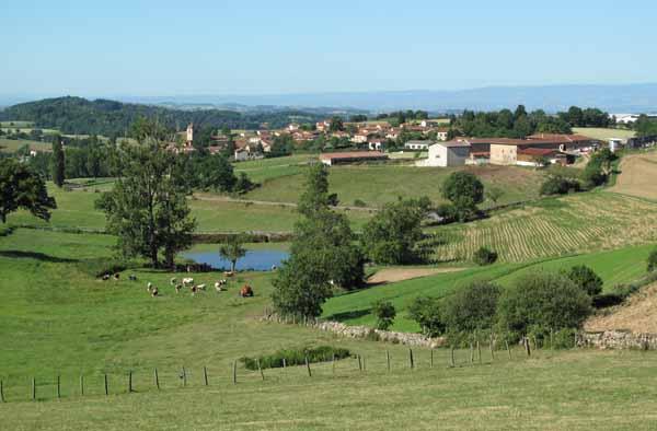 Walking in France: Looking down on Longessaigne