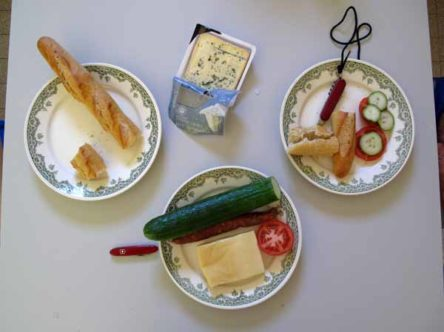 Walking in France: Our simple, but delightful, lunch