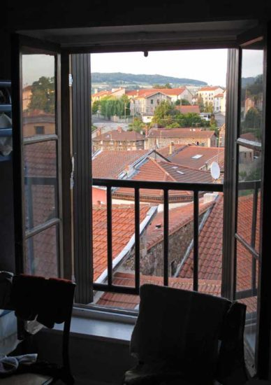 Walking in France: The view from our top floor bedroom window