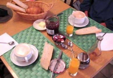 Walking in France: Breakfast in the Beau Rivage