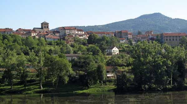 Walking in France: Looking across the Loire to Retournac