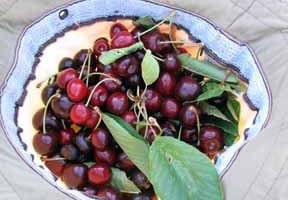 Walking in France: A hatful of cherries