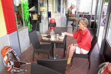 Walking in France: Coffee in Orgon