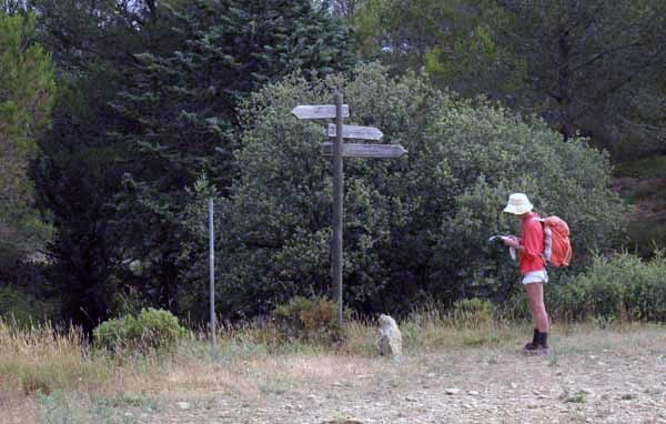 Walking in France: At the junction of the GR653 and the GR6