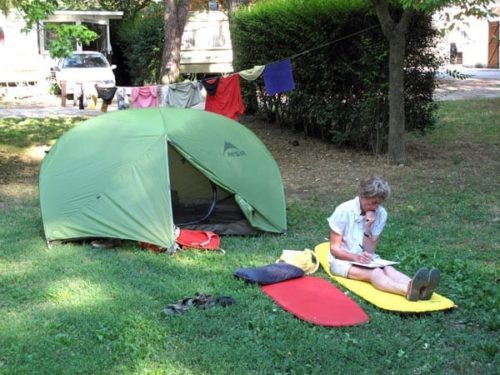 Walking in France: Keeping the diary up-to-date