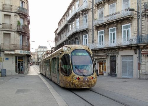 Walking in France: Another Montpellier tram