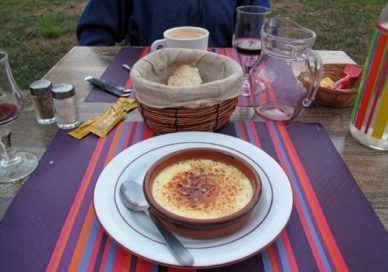 Walking in France: And Keith's first crème brûlée on this year's walk
