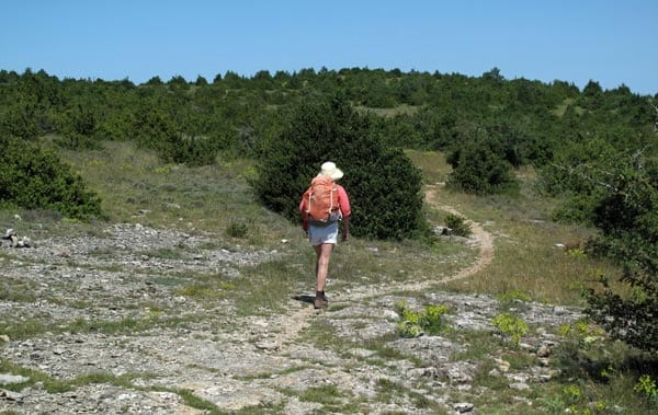 Walking in France: Entering the causse