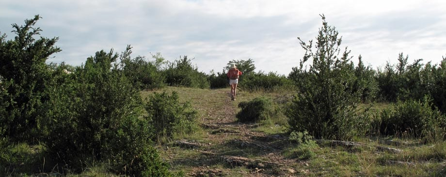 Walking in France: Coming over the hill to la Couvertoirade