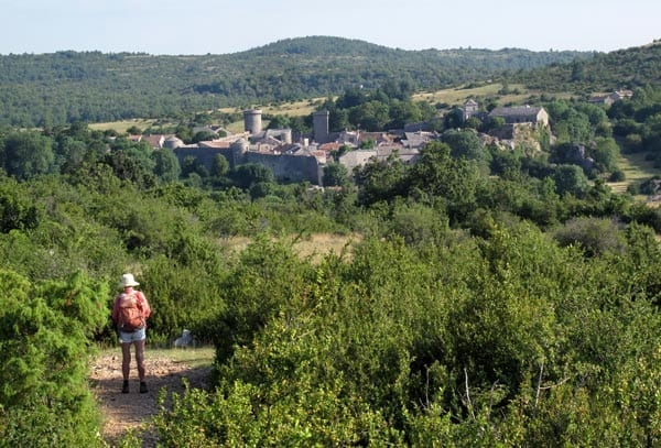 Walking in France: First view of la Couvertoirade