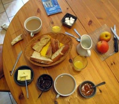 Walking in France: Our delightful breakfast