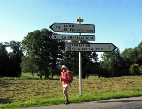 Walking in France: A miracle - only 14 km to Ahun!