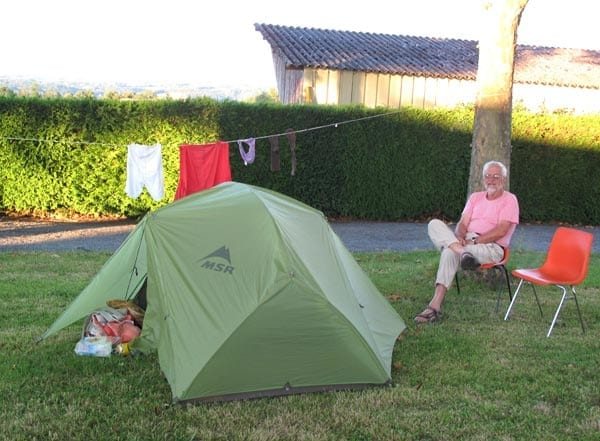 Walking in France: At ease in the Ahun camping ground