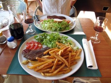 Walking in France: A simple, but gratefully received dinner