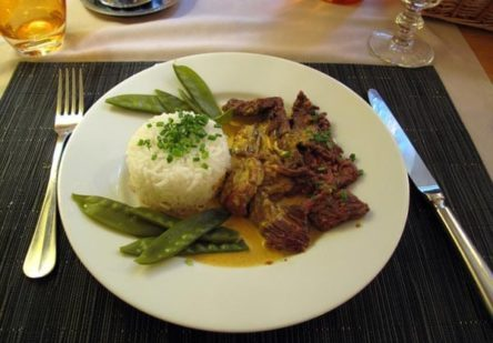 Walking in France: Keith's main course of beef