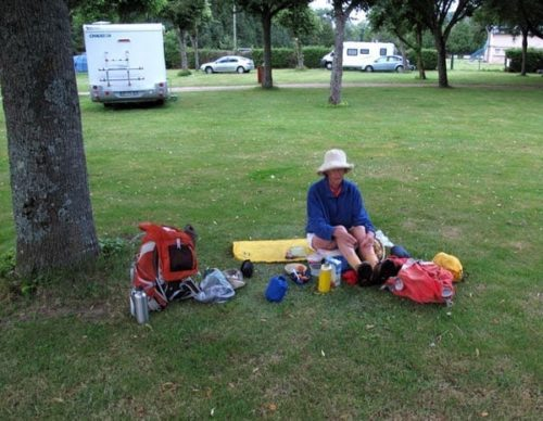 Walking in France: Breakfast in the camping ground