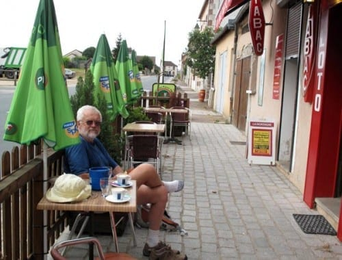Walking in France: Second coffee of the day, in Argenty