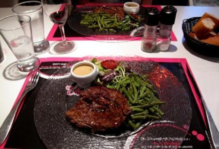 Walking in France: Followed by steaks with green beans