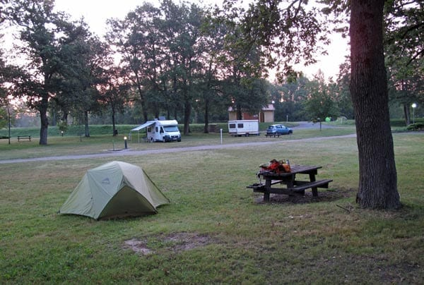 Walking in France: All quiet in the Vallon camping ground