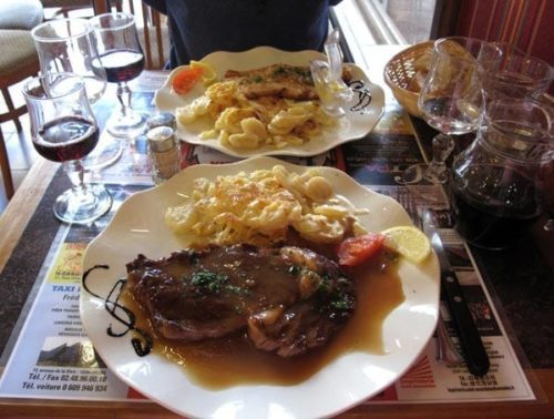 Walking in France: And our main courses
