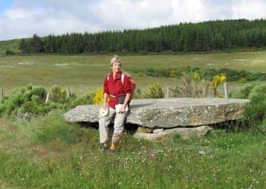 Walking in France: A large dolmen near le Thort
