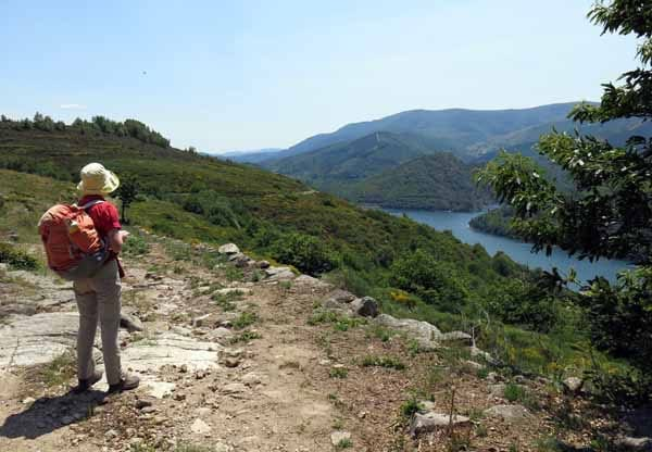 Walking in France: First view of the lake of Villefort