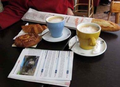 Walking in France: Second breakfast in Genolhac
