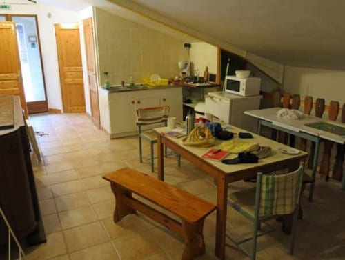 Walking in France: The soon-to-be spotless kitchen